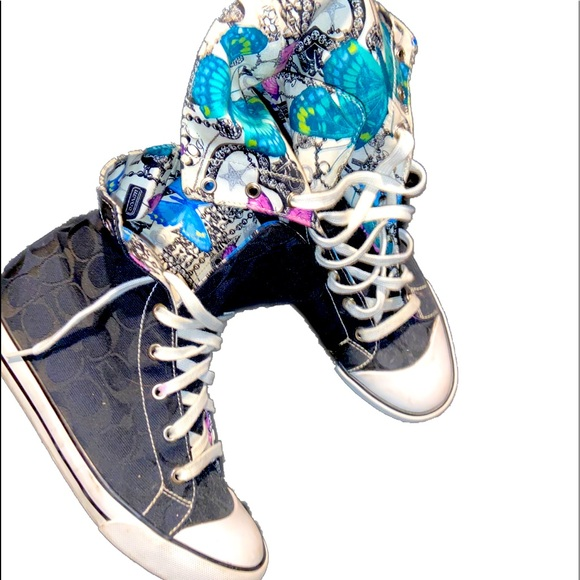 Coach High Top Butterfly Chuck Taylor Sneakers